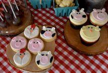 First birthday rustic farm
