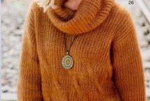 Pullovers / пуловеры и свитера спицами для женщин