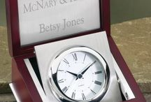 Engraved Clocks / Desk Clocks and Desk Clock & Pen Sets that can be engraved  for Personalized gifts, Employee recognition gifts, Retirement Gifts at... http://www.theisenclock.com/desk_clocks_engraved.html