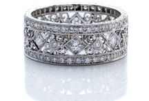 Filagree Diamond Bands / by WEDDINGRINGS.COM