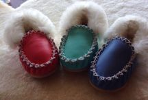 Baby moccasins / Hand made in Geelong Australia Real leather and sheepskin