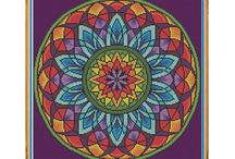Mandala cross stitch
