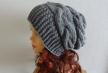 women knit slouchy beanie hat Slouch Beanie - Large hat - chunky hat - Chunky…