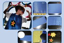 How to Make a Superhero Cape and Mask / For complete DIY tutorial, go to http://pieceofcakethebook.blogspot.com/2013/09/diy-superhero-capes-and-mask-template.html