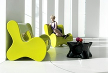 COLLECTION DOUX / KARIM RASHID has developed about 50 proposals for the Spanish brand VONDOM which, finally, ended up being edited and translated into 6 products families, among them show up DOUX, a collection of different pieces derives directly from the pen sketching freely: organic, spontaneous, friendly, and colorful. The zoomorphic forms are to engage, to touch, to sit, to enjoy. / by Vondom