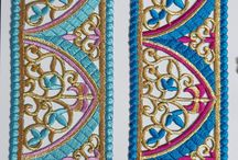 pasting cutwork lace