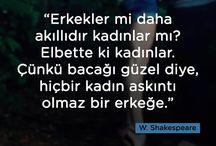 W. Shakespeare, sözleri