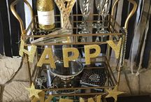 How to style a bar cart for New Year