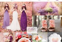 Flower themes - lavender peach