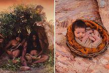 Η νέα ζωή στο φακό, Αβορίγινες ποζάρουν με τα νεογέννητά τους