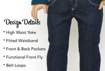 High-Waisted Jeans For Dolls