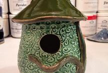 BFarms Outdoor Pottery / Birdhouses, bird feeders, planters, garden stakes, and more!