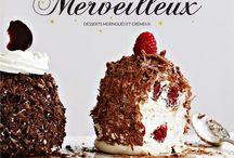 Merveilleux / Recettes de merveilleux : gâteaux à base de meringue, de crème fouettée et de copeaux de chocolat (ou autres)
