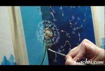 МК как нарисовать одуванчик