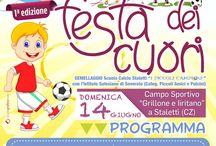 """Scuola Calcio """"I PICCOLI CAMPIONI"""" - STALETTì (CZ) / Scuola Calcio """"I PICCOLI CAMPIONI"""" - STALETTì (Cz) organizza la I°EDIZIONE de """"LA FESTA DEI CUORI"""" gemellaggio con l'istituto Salesiano di Soverato. 14 GIUGNO 2015 presso Campo Sportivo """"Grillone e Iiritano"""" - Stalettì. VI ASPETTIAMO NUMEROSI!"""