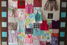 quilts with babyclothes