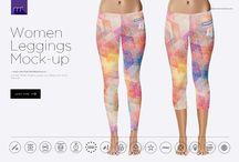 Gym and fitness clothing mockups