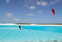 Kitesurfing / kiteboarding on land on water on snow. Let the dream come true!