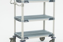 Utility Carts / Chrome     Stainless Steel     Metroseal     Polymer