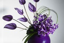 purple flower arrangement
