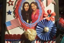 My american Scrapbook / Some of my creations with American style