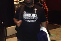 Christian T-Shirts of Drummers Who is Created to Worship