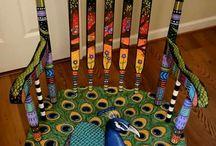 malowane krzesła