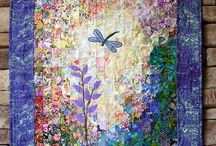 Watercolor quilts