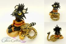 Calico Griffin / Polymer clay creations