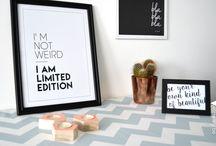 Poster & quotes / Posters, grappige quotes, zwart-wit en kleur, verkrijgbaar met/zonder kader