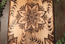 mandala wood burning