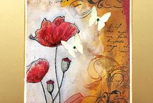 mixed media cards and art / Mixed media cards and Art / by Damsel of Distressed Cards