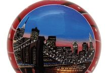 New York Ornaments / Hand Painted New York Christmas Ornaments featuring the beautiful scenes of New York