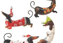 Gifts for Animal Lovers! / A large collection of breed themes ornaments and flour sack towels