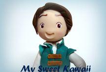 Chibi Doll / PERSONAGGI DELLE FAVOLE, e non solo, VERSIONE BABY, REALIZZATE IN PORCELLANA FREDDA (pasta di mais) h 15 cm circa