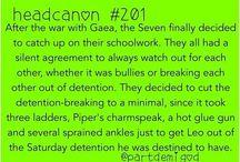 """Headcanons and """"to The Seven"""" PJO & HOO"""