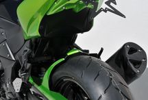 Kawasaki Z 750 R 2011/2012 by Ermax Design / Accessories, nose screen, rear hugger, belly pan, exhaust, seat cover, under tail, license plate support