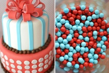 Red and teal party ideas