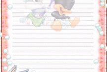 papéis de carta