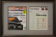 Framed Magazine, Newspapers, and Books