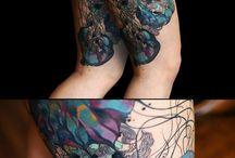 Freehand tattoos by Luciferka / Tattoos by Lucie from Marda Tattoo Company, Brno, Czech Republic