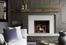 Modern Wood Fireplace