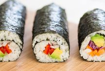FOOD / #vegan #food #sushi #rice #rolls #avocado #vegan recepie