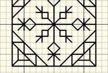 blackwork / Blackwork patterns and biscornu / by Genevieve McDonald