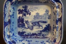 Blauw/wit porselein / Antiek en modern