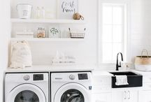 Bright Laundry Rooms