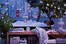 Salles de bain de Noel / Voici quelques idées de décorations de Noel à intégrer dans votre salle de bain pour la période des fêtes, si vous vous sentez créatifs.
