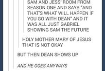 Sam, Dean and Cas