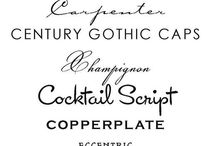 typography . calligraphy . lettering