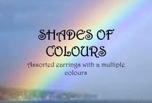 SHADES OF COLOUR / Unique, handmade earrings in shades of COLOUR, PATTERNS & TRENDS